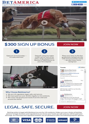 BetAmerica Greyhound Racing Promotion